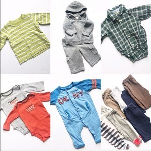 Lot of Baby Boy Clothes - NB-6 Months - 15 Items